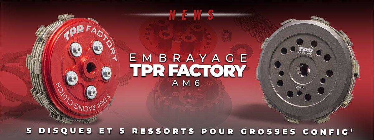 Visuel de présentation du nouvel embrayage TPR Factory pour moto AM6.