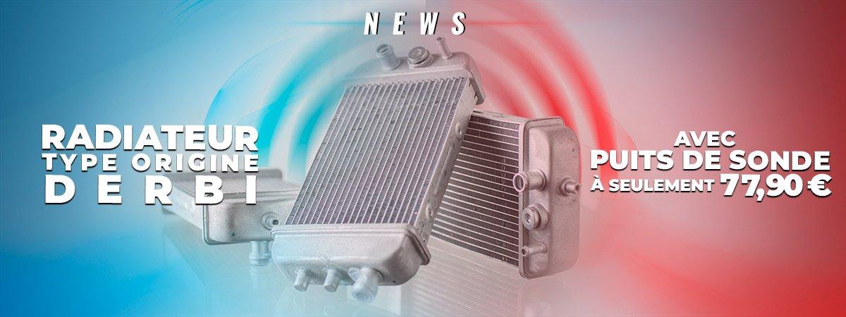 Visuel de présentation des radiateurs tytpe origine Derbi, Gilera et Aprilia Euro 3 et 4