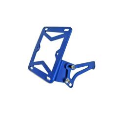 Support latéral de plaque d'immatriculation bleu MBK Booster