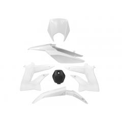 Kit carénage Derbi Senda et DRD après 2010  blanc (6 pièces)