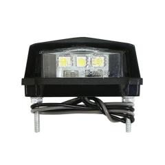 Éclairage de plaque d'immatriculation à LEDS vue de dessous