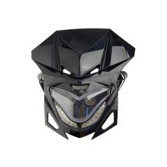 Tête de fourche XR8 Noir à Led