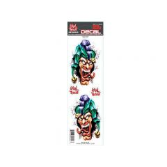Autocollant Lethal Threat Jester Heads 7x25cm
