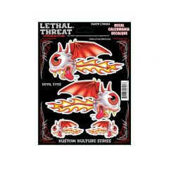 Autocollant Lethal Threat Devil Eyes 15x20cm