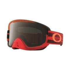 Masque Cross Oakley O Frame 2.0 MX Frequency rouge et orange écran fumé et transparent
