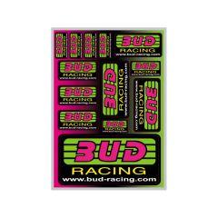 Autocollant Bud Racing classic 21x15cm