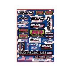 Autocollant Bud Racing  USA (x28)