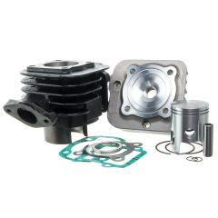Kit cylindre 50cc Barikit Fonte MBK Booster et Yamaha Bw's avec culasse