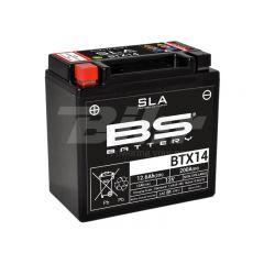 Batterie BS Batterie SLA BTX14-BS 12V 12Ah activée usine