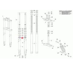 Bague de friction fourche 38x36x15 Rieju MRT classique