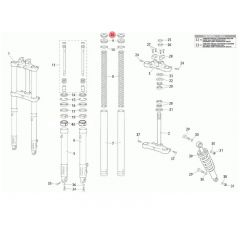 Bouchon de fourche origine Rieju MRT fourche classique PAS 100 (x2)