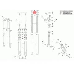 Bouchon de fourche origine Rieju MRT fourche classique PAS 150 (x2)