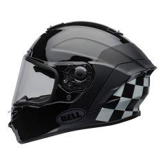 Casque intégral Bell Star DLX Lux Checkers noir et blanc