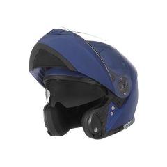 Casque intégral modulable bleu métallisé NOX N965