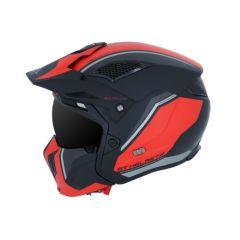 Casque Trial Mt Helmet Streetfighter sv twin modulable noir / rouge