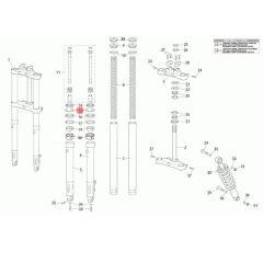 circlips de fourche Rieju MRT fourche classique