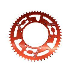 Couronne Aluminium Doppler 420 - 53 dents rouge Derbi Senda - DRD - RS4