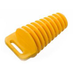 Bouchon de pot d'échappement jaune