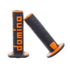 Revêtement de poignée Domino A360 noir et orange