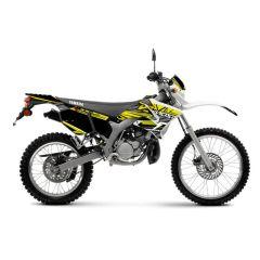 Kit déco Most V2 Yamaha DT jaune pailleté et chromé