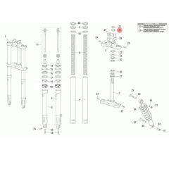 Ecrou de colonne de direction origine Rieju MRT fourche classique