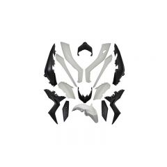 Kit carénage 15 pièces Yamaha X-Max après 2017 noir mat et blanc brillant
