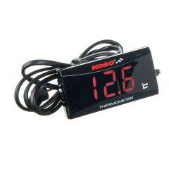 Thermomètre Koso Super Slim Rouge (°C)