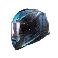 Casque LS2 Storm Racer bleu mat