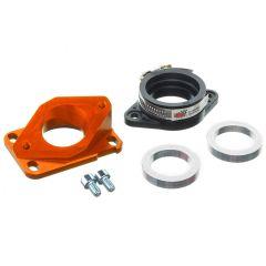 Pipe d'admission aluminium MOST 30 à 34 mm PWK orange AM6 et Derbi