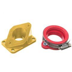 Pipe d'admission aluminium Most 36 à 40mm PWK or AM6 et Derbi