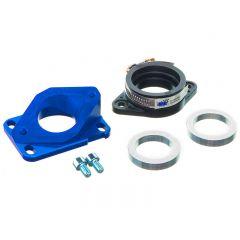 Pipe d'admission aluminium MOST 30 à 34 mm PWK bleu AM6 et Derbi