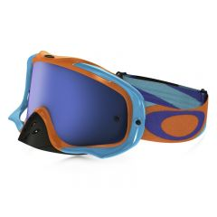 Masque Cross Oakley Crowbar MX Heritage Racer orange et bleu écran iridium