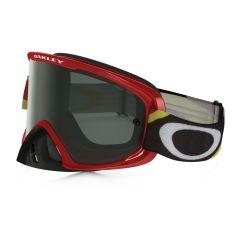 Masque Cross Oakley O Frame 2.0 MX Heritage racer rouge écran fumé
