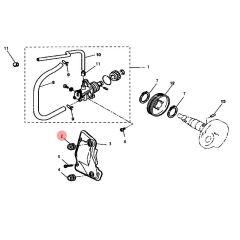 Passe durite d'huile pompe - carburateur MBK Nitro