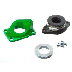 Pipe d'admission Aluminium Most 12 à 21mm vert AM6 et Derbi