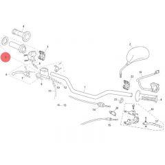 Poignée de gaz origine Rieju MRT et MRT Pro