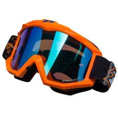 Masque cross Progrip 3204 Orange Fluo