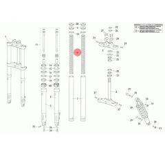 Ressort de fourche origine Rieju MRT fourche classique (x2)