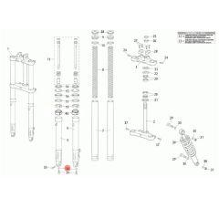 Rondelle de vis de vidange de tube de fourche Rieju MRT classique