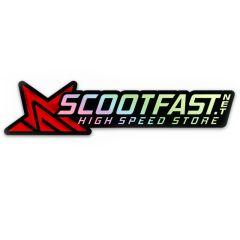 Autocollant Scootfast holographique 21x4.5cm