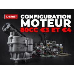 Configuration moteur 80cc Derbi Euro 3 et 4