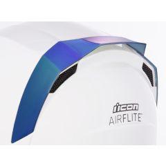 Spoiler de casque Icon Airflite iridium bleu