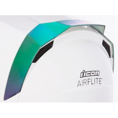 Spoiler de casque Icon Airflite iridium vert