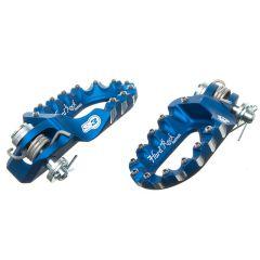 Repose pieds S3 Hard Rock aluminium forgés bleus