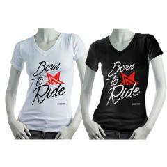 T-shirt Born to Ride Femme