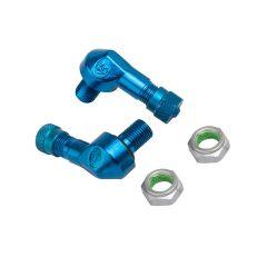 Valve coudée Ariete alu bleu diam. 8,3mm