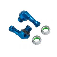 Valve coudée Ariete alu bleu diam. 11,3mm
