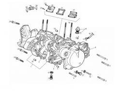 Eclaté moteur - carters moteur Derbi