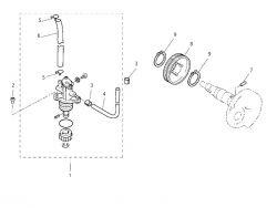 Eclaté moteur - pompe à huile MBK Booster