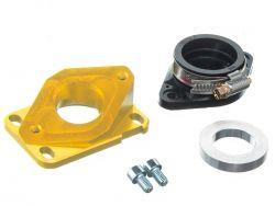 Pipe d'admission aluminium MOST 21 à 28 mm PWK or AM6 et Derbi